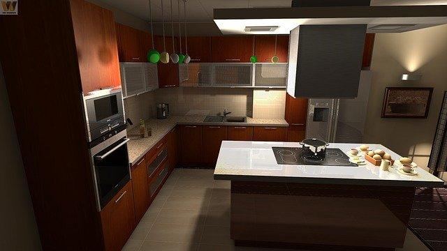 moderní hnědá kuchyně