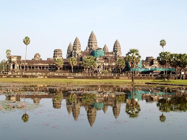 památka v Kambodže