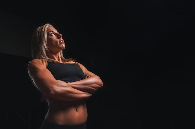 žena, svaly