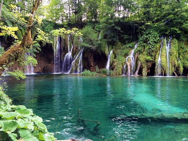 jezero v Chorvatsku