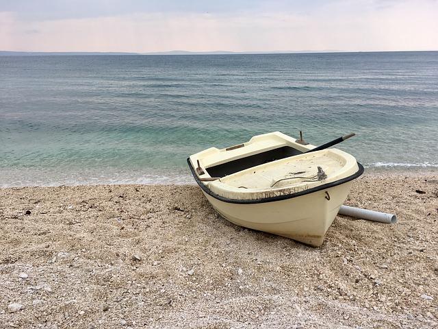 moře, pláž, loď