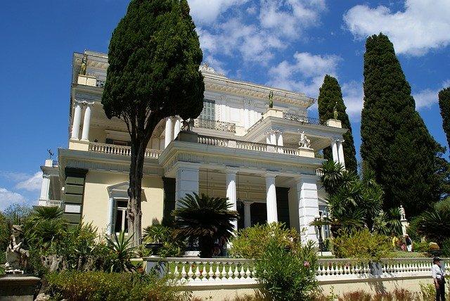 vila v Řecku