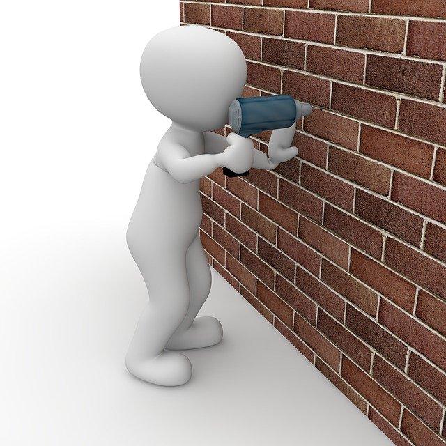 vrtání do zdi