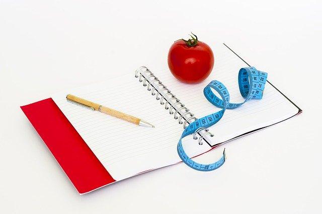 zápisník pro hubnutí
